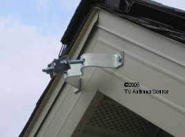TV antenna eave mount upper bracket