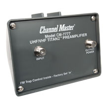 Channel Master 7777 TV antenna PreAmplifier/booster